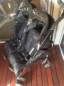 Maclaren twin techno double pram. MINT Condition. Doubleview Stirling Area Preview