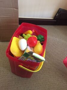 Free dora kitchen with plastic food Coomera Gold Coast North Preview
