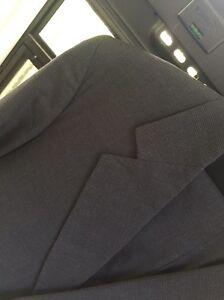 Men's tailor made dark grey houndstooth suit Stirling Adelaide Hills Preview