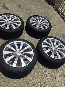 Stock 17 inch WRX wheels, Good Tred, 5 X 100 Birkdale Redland Area Preview