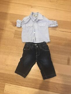 Woof boys brand shirt and jeans size 00 bundle