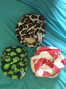 3 used babybare AIO MCN cloth nappies Huskisson Shoalhaven Area Preview