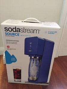 Soda Stream Source Metal Edition  - Blue Gladesville Ryde Area Preview