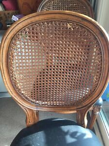 8 x Rattan Back Louis style Dining Chairs Tamarama Eastern Suburbs Preview