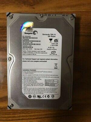 "Seagate ST3320620A 320GB 7200RPM 16MB 3.5""  PATA/IDE/EIDE Desktop Hard Drive"