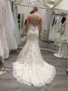 Fit and flare wedding gown unused