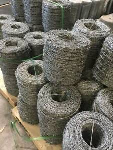 HOT DIPPED GALV BARBED WIRE