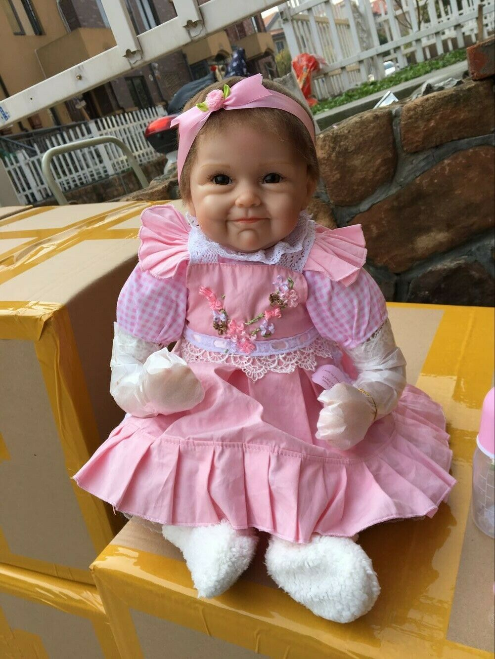 "22"" Reborn Baby Dolls Girl Look Real Lifelike Newborn Reborn"