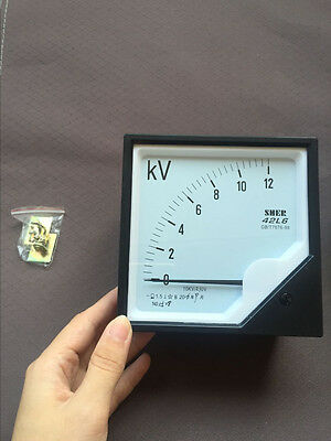 42l6-v Zero Setting Square Dial Panel Analog Voltage Meter Voltmeter Ac10kv230v