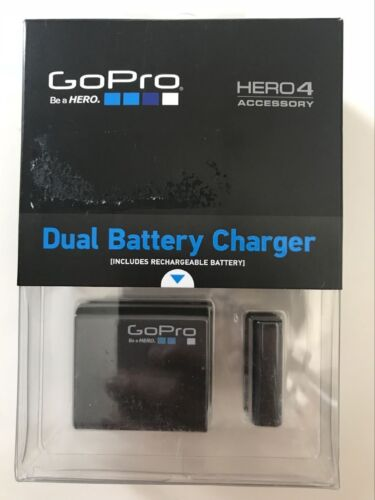 GoPro  Dual Battery Charger + Battery for HERO4 Accessory Black/ Silver