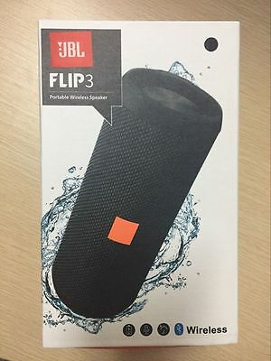 New JBL Flip 3 Splashproof Portable Bluetooth Speaker-BLACK