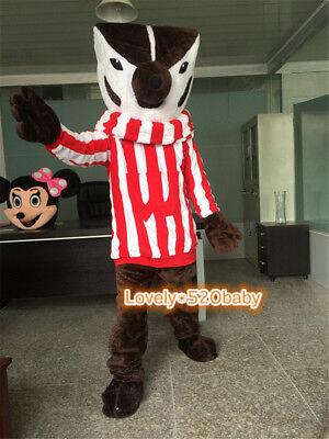 Halloween Badger Mascot Costume Fox Cosplay Animal Adults Party Fancy Dress Suit - Badger Halloween Costume