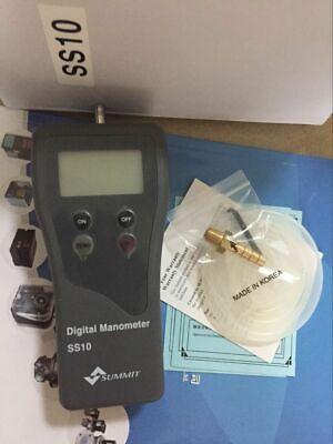 1pc New Digital Manometer Ss10 Handheld Gas Pressure Gauge