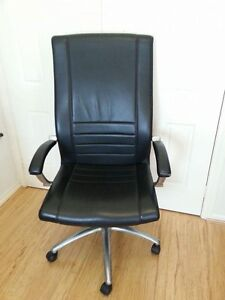 Leather Schiavello office chair Brighton East Bayside Area Preview