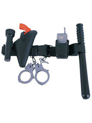 Child Police Officer Belt Kit Costume Accessory Set Play Cop Kids Boys Youth