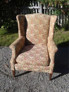 Wing back chair in excellent condition