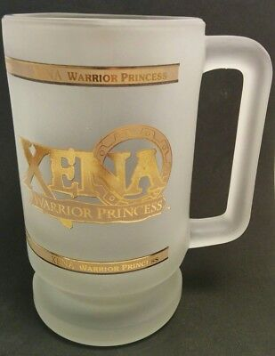 XENA Warrior Princess GLASS MUG 1997 Rare