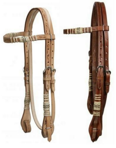 Western Saddle Horse Bridle Headstall + Reins w/ Quick Change Ends Med or Light