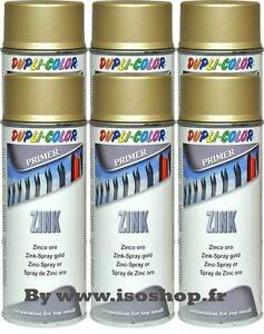 dupli color a rosol de peinture primaire zinc couleur or spray 6x400 ml ebay. Black Bedroom Furniture Sets. Home Design Ideas