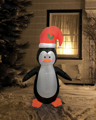 Christmas Inflatable Penguin 4FT Light Up Outdoor Decoration Xmas Seasonal