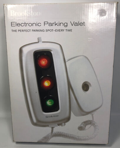 BROOKSTONE ELECTRONIC PARKING VALET.  BRAND NEW IN Open Box Model 541433 Exc