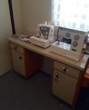 Sewing Machine, Overlocker & Cabinet Dudley Park Mandurah Area Preview
