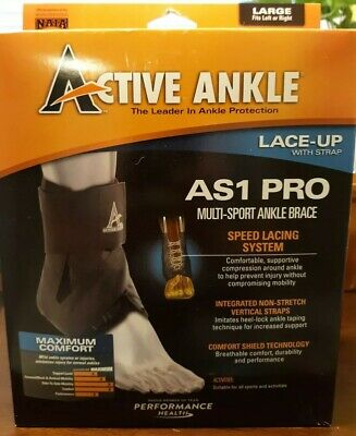 Active Ankle AS1 Pro Lace-Up Multi-Sport Ankle Brace - Large *Read Details*