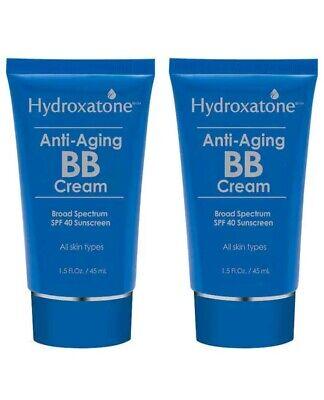 Hydroxatone Anti-Aging BB Cream, SPF 40 Universal Shade 2 pack of 1.5 FL OZ