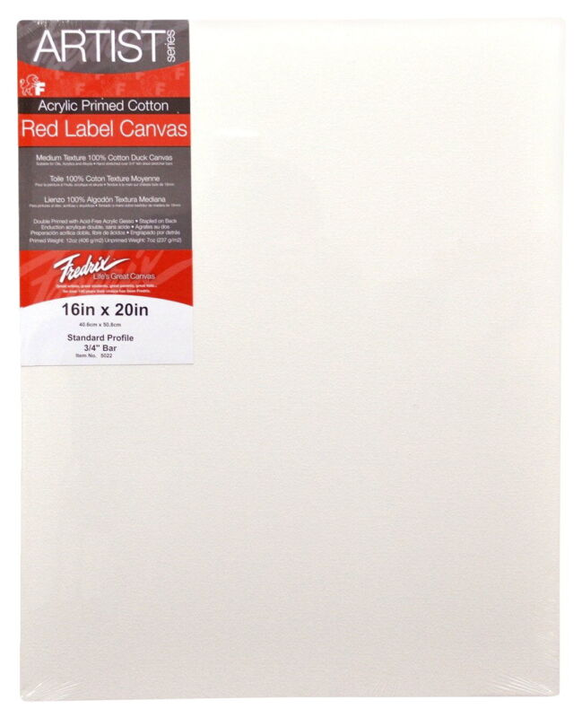 Fredrix Artist Series Stretched Canvas, 16 X 20 in, White