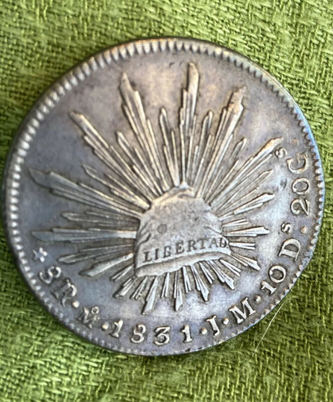 1831 Mo JM Mexico 8 Reales Mexico City Mint Silver Coin