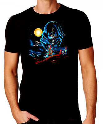 The Nightmare Before Christmas Star Wars Mash Up T-shirt - Comedy Halloween Top](Halloween Mash Up)