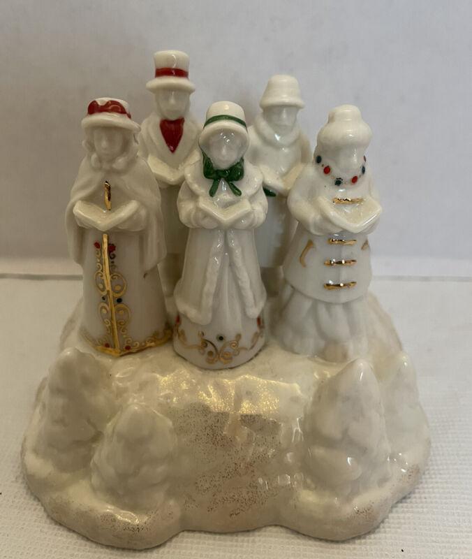 Lenox Mistletoe Park Series Christmas Village Musical Carolers MINT In Box