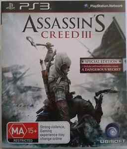 ASSASSIN'S  CREED 3 -PLAYSTATION 3 GAME -UBISOFT -PS3 -SPECIAL ED Riverwood Canterbury Area Preview