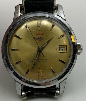 Waltham 41 Watch Swiss Running Estate Find Self Winding Date Vintage 20-14