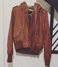 Pu leather jacket  tan color Prospect Prospect Area Preview