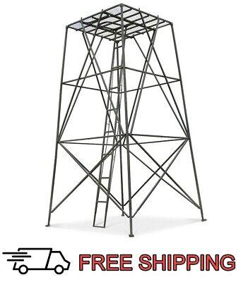Hunting Blind Tower Platform Deer Stand 10 ft 1-2 Person Elevated Platform -