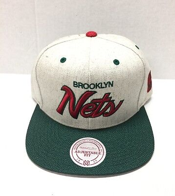 MITCHELL & NESS BRUSHED HEATHER WOOL SNAP BACK  BROOKLYN (Net Back Hats)