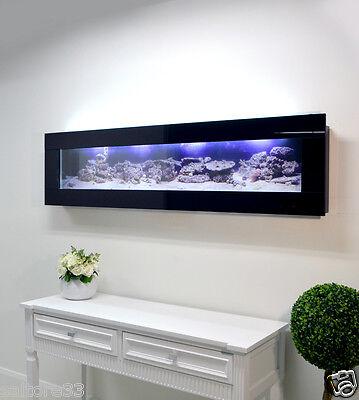 BLACK 900mm 3ft NEW DESIGNER ARTIST WALL PLASMA AQUARIUM FISH TANK LIVE ART