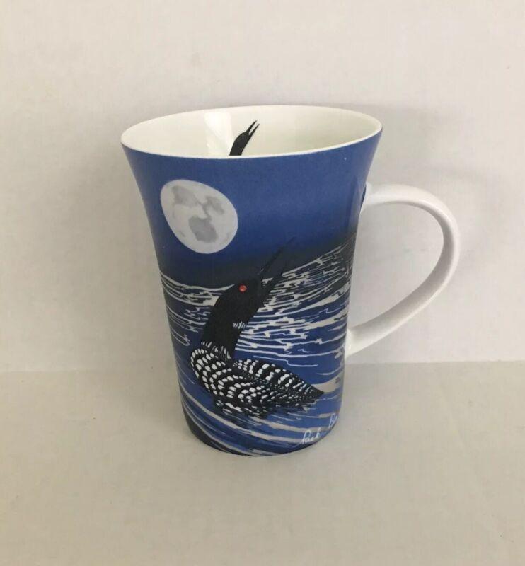 Rick Beaver Ojibway Artist ~ Loon ~ Porcelain 10 oz Coffee Tea Mug ~ Fast Ship