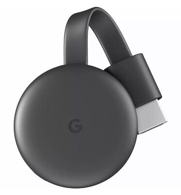 Google Chromecast 3rd Generation Streaming Media Player Charcoal Factory Sealed