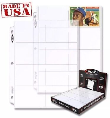 """Box of 100 Pages x 8 pocket Holds eight 2 5/8"""" x 4"""" cards (#CS73)"""