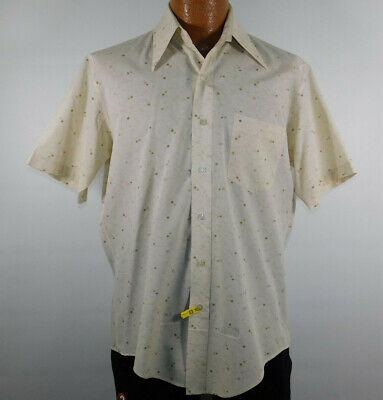 1970s Mens Shirt Styles – Vintage 70s Shirts for Guys Vintage 1960s 1970s ALEXANDER'S Permanent Press Short Sleeve Unworn Shirt Mens M $22.88 AT vintagedancer.com