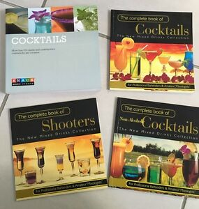 4 x cocktail / shots recipe books - $5 for all 4 Adamstown Newcastle Area Preview