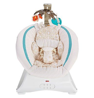 Fisher Price Soothing Savanna Deluxe Bouncer For Sleeping/Entertaining | CLH37