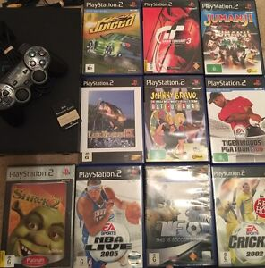 PS2 with 10 games and memory card, need gone - PlayStation Karrinyup Stirling Area Preview