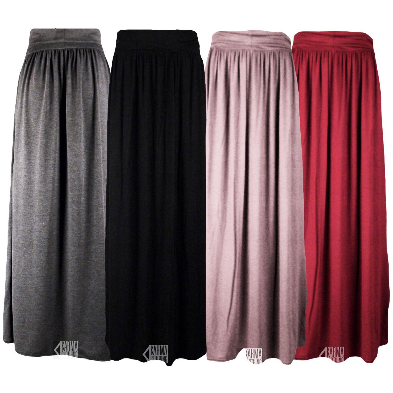 womens fold waist jersey maxi skirt 4