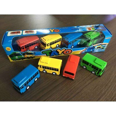 4 pcs Cars Toy The Little Bus TAYO Friends Mini Special Set Tayo Rogi Gani Rani