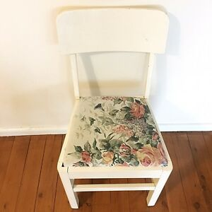 Vintage White Chair x2 Kurrajong Hawkesbury Area Preview