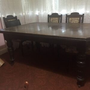 Solid timber dining table over 100 yrs old North Epping Hornsby Area Preview