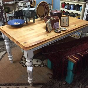 Shabby chic rustic farmhouse dining table Glebe Inner Sydney Preview